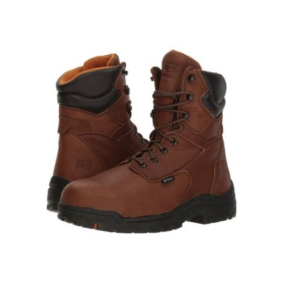 ティンバーランド Timberland PRO メンズ ブーツ シューズ・靴 Titan 8' Waterproof Safety Toe Cappucino Full Grain Leather