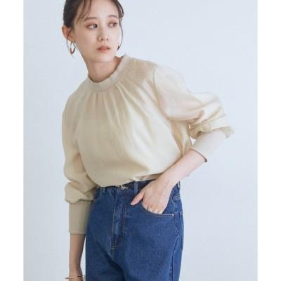 tシャツ Tシャツ 【WEB限定】インナーキャミ付きシアーロングプルオーバー