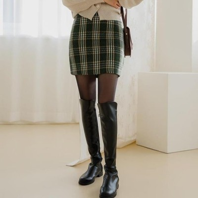 ENVYLOOK レディース スカート L check skirt