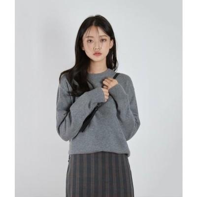 MIXXMIX レディース ニット/セーター ESSAYRound Neck Drop Shoulder Knit Top