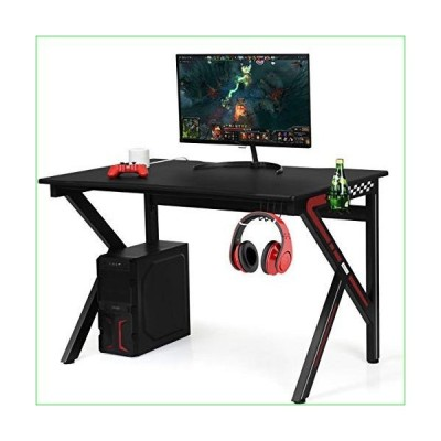 Giantex Gaming Desk, E-Sports Computer Desk Table with Large Ergonomic Surface and Heavy Duty Construction for Home or Office, Gaming PC Des