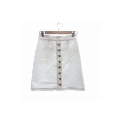 【中古】ケイトスペード KATE SPADE ミニスカート 台形 0 白 ホワイト /CT レディース 【ベクトル 古着】