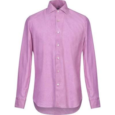 アレッサンドロ ゲラルディ ALESSANDRO GHERARDI メンズ シャツ トップス Solid Color Shirt Light purple