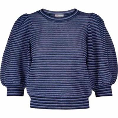 REDV レディース ニット・セーター トップス alentino striped sweater Blue