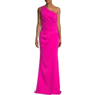 ニコル バクティ Nicole Bakti レディース パーティードレス ワンショルダー ワンピース・ドレス ruched one-shoulder gown フューシャピンク