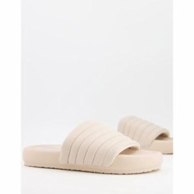プルandベアー PullandBear レディース サンダル・ミュール チャンキーヒール シューズ・靴 Chunky Slider In Ecru グレー