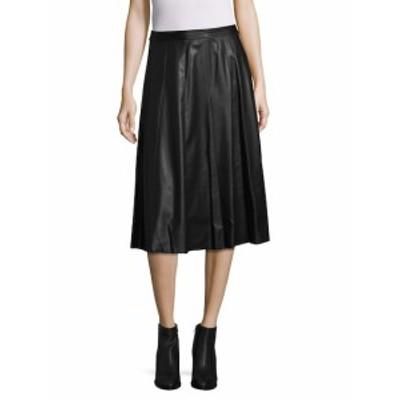 レベッカテイラー レディース スカート Faux Leather A-Line Skirt