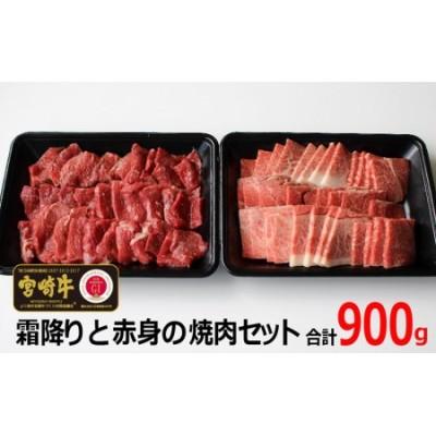 <宮崎牛>霜降りと赤身の焼肉セット900g※90日以内出荷【C204】