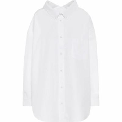 バレンシアガ Balenciaga レディース ブラウス・シャツ トップス swing oversized cotton-poplin shirt White