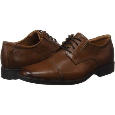 クラークス ビジネスシューズ 革靴 ティルデンキャップ メンズ ダークタンレザー 27.5 cm