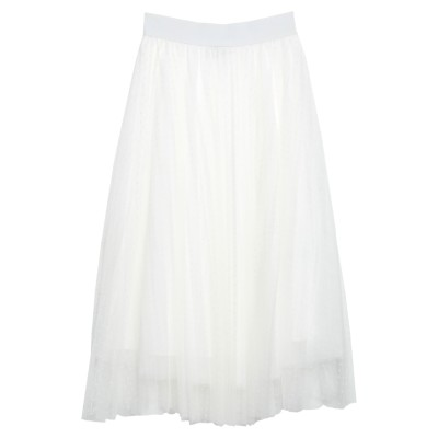 NO SECRETS 7分丈スカート ホワイト 40 ポリエステル 100% 7分丈スカート