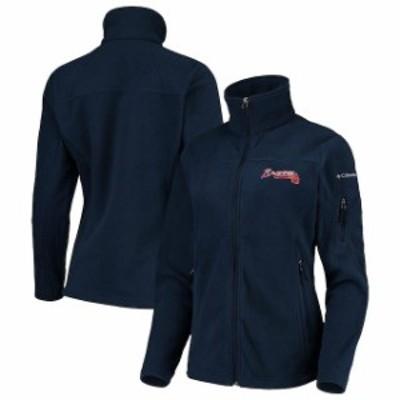 Columbia コロンビア スポーツ用品  Columbia Atlanta Braves Womens Navy Give & Go Full-Zip Jacket