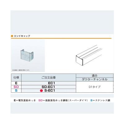ネグロス電工 エンドキャップ ステンレス S-EC1  ダクターチャンネルD1タイプ 【ゆうパケット可能】