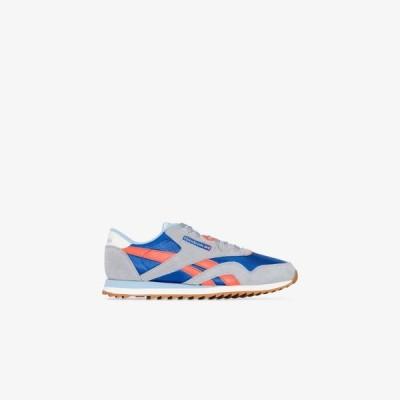 リーボック Reebok メンズ スニーカー ローカット シューズ・靴 grey Ripple low top suede sneakers blue