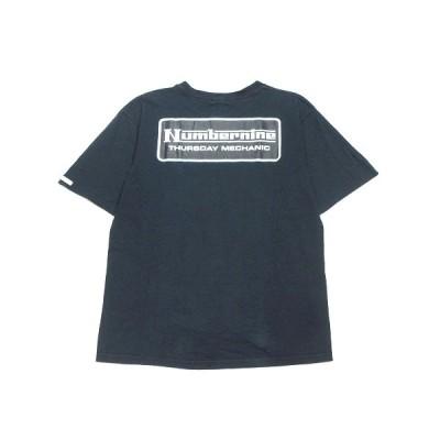 【中古】初期 00SS Extra Heavy エクストラヘヴィ期 ナンバーナイン NUMBER (N)INE プリント Tシャツ カットソー 半袖 丸首 オールド 3 緑黒系 ダークグリーン