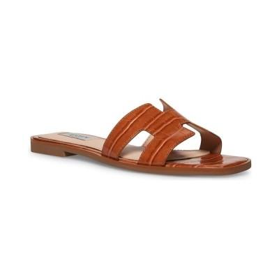 スティーブン ニューヨーク サンダル シューズ レディース Women's Enida Slide Sandals Cognac Croco