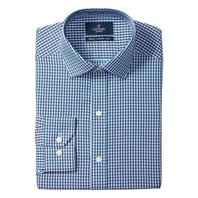 バトゥンド ダウン メンズ シャツ トップス Tailored Fit Spread Collar Pattern Non-Iron Dress Shirt