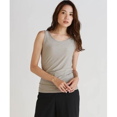 LAUTREAMONT ONLINE SHOP / ≪ロングセラー≫ソフトラメベアテンジク タンクトップ WOMEN トップス > Tシャツ/カットソー