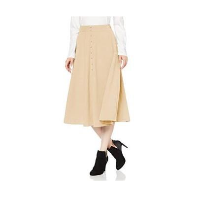 フリーズマート スカート フロントボタンフレアースカート レディース 131-0120051 ベージュ 日本 FR (FREE サイズ)