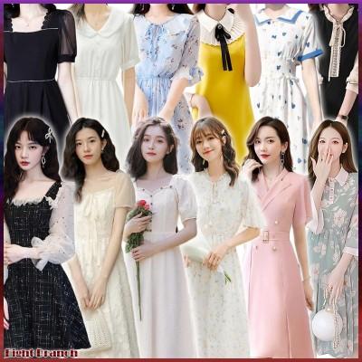 【2点送料無料 3個購入時の1つおまけ】2021春夏秋韓国ファッション/ワンピース★レースワンピース/大きいサイズ レースの伸縮性ンピース/ファッションボディラインがキレイに見える