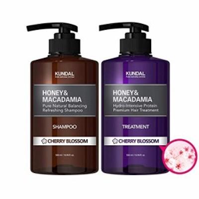[kundal公式]プレミアムヘアケアスペシャルセット チェリーブラッサム・シャンプー500ml&トリートメント500ml premium hair care specia