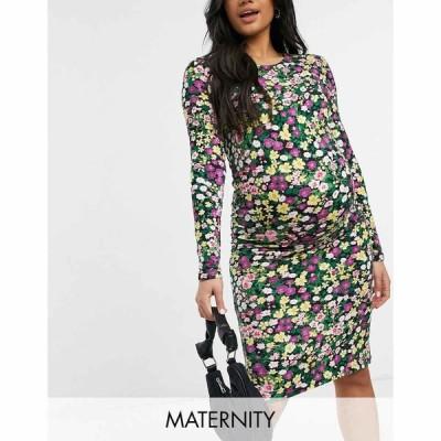 ママリシャス Mama.licious レディース ボディコンドレス マタニティウェア Mamalicious Maternity Bodycon Dress In Mixed Ditsy Floral マルチカラー