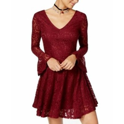 American  ファッション ドレス American Rag NEW Red Size Small S Junior Lace Fit & Flare Skater Dress