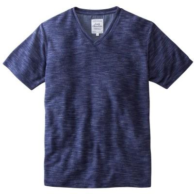 ルイシャブロン(Louis Chavlon) リップル半袖VネックTシャツ Tシャツ・カットソー, T-shirts, テレワーク, 在宅, リモート