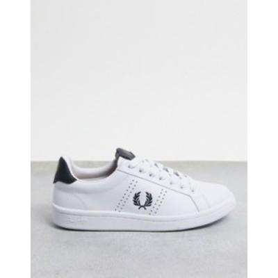 フレッドペリー レディース スニーカー シューズ Fred Perry B721 leather sneakers in white 200 White/Navy