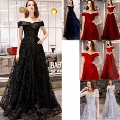 ロングドレス 結婚式 お呼ばれ ドレス パーティードレス マキシ丈 ワンピース 20代 30代 40代 袖なし 小さいサイズ ブラックドレス