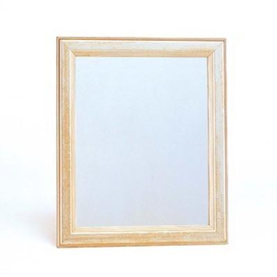 壁掛けミラー/姿見鏡 【小】 294mm×242mm×20mm 『YanaKatu』 壁掛けひも付き 日本製