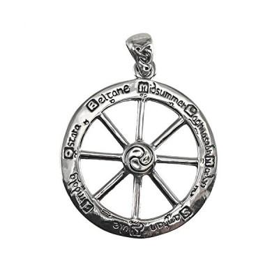 スターリング シルバー カット アウト Wheel of the Year ペンダント(海外取寄せ品)