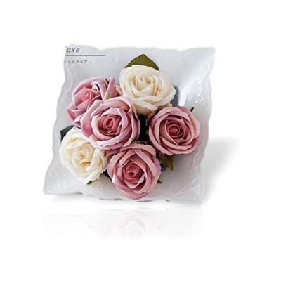 クレイ フラワーベース 花瓶 エレガント 花器 ホワイト 北欧 (ホワイト)