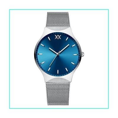 【新品】HEMINGWAY Men's Watch Concise Quartz Milanese Steel Band Wrist Watch H011 (Blue dial,Silver case,Silver Steel Band)(並行輸入品)