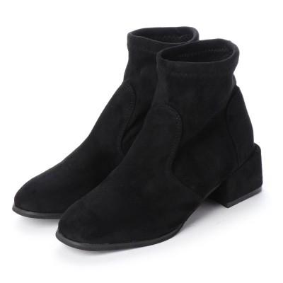 スタイルブロック STYLEBLOCK スエード調ショートブーツ (ブラック)