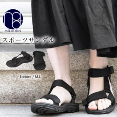 【冬新作】スポーツサンダル シューズ 靴 ラウンドトゥ カジュアル M L 23.0cm 23.5cm 24.0cm レディース 秋 ミリアンデニ k333053