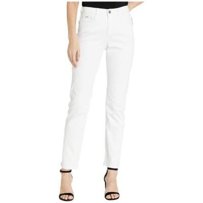 FDJフレンチドレッシングジーンズ レディース デニムパンツ ボトムス Petite Sunset Hues Denim Suzanne Straight Leg in White