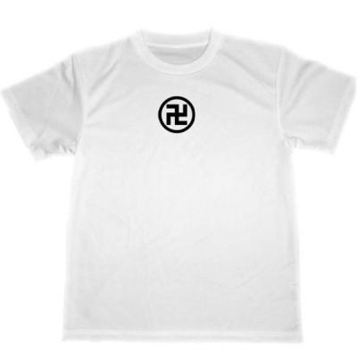 丸に万字  ドライ Tシャツ 偉人 戦国武将 幕末 家紋 卍 グッズ 蜂須賀小六