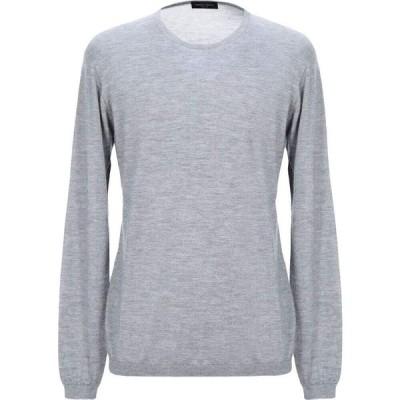 ロベルトコリーナ ROBERTO COLLINA メンズ ニット・セーター トップス Cashmere Blends Grey