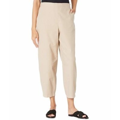 エイリーンフィッシャー カジュアルパンツ ボトムス レディース Organic Cotton Hemp Stretch Ankle Lantern Pants Khaki