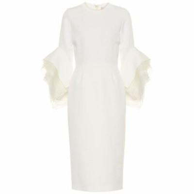 ロクサンダ Roksanda レディース パーティードレス ワンピース・ドレス Tulle-trimmed crepe midi dress Ivory