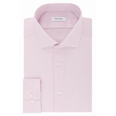 Calvin Klein カルバンクライン ファッション ドレス Calvin Klein NEW Pink Mens Size 17 Slim Fit Performance Dress Shirt