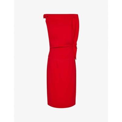 リース REISS レディース パーティードレス ミドル丈 ワンピース・ドレス Robyn woven midi dress RED