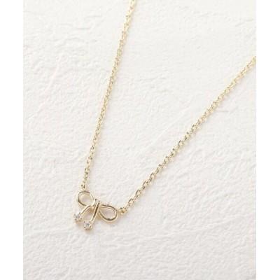 Couture Brooch/クチュールブローチ アソートリボンプチネックレス ディープグレー(117) 00