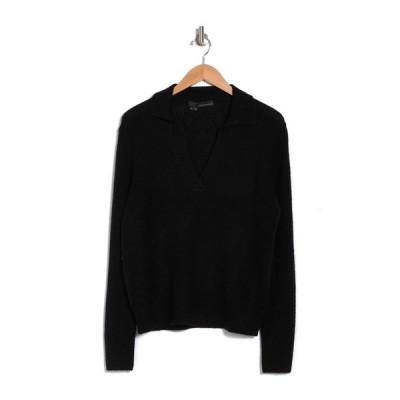360カシミア レディース ニット&セーター アウター Elizabeth Collared Cashmere Sweater BLACK