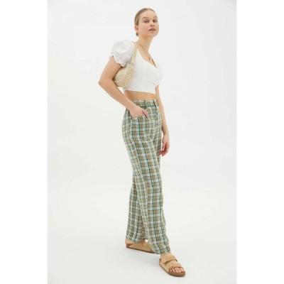 アーバンアウトフィッターズ Urban Outfitters レディース ボトムス・パンツ ワイドパンツ UO Kai Linen Baggy Pant Green Multi