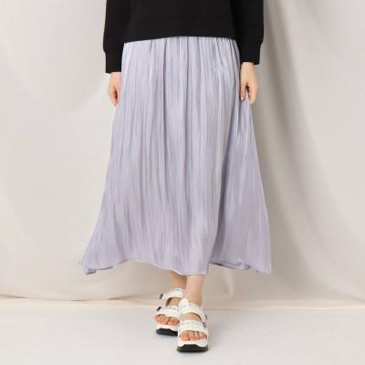 クチュール ブローチ Couture brooch オーロラサテンギャザースカート (サックス)