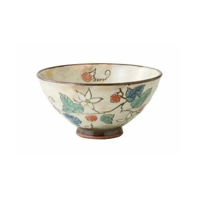 波佐見焼 飯碗 (小) 草花(木苺)柄 赤色 62367