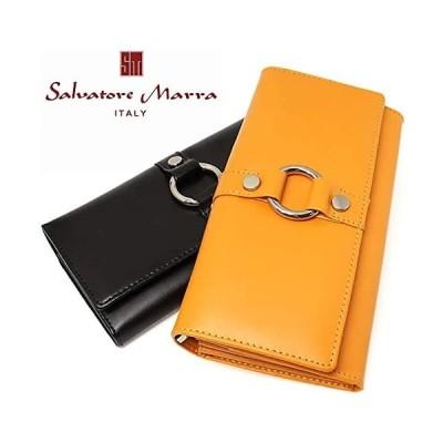 サルバトーレマーラSalvatore Marra 財布 かぶせ折り長財布 大容量 レザー レディース MS1212B イエロー