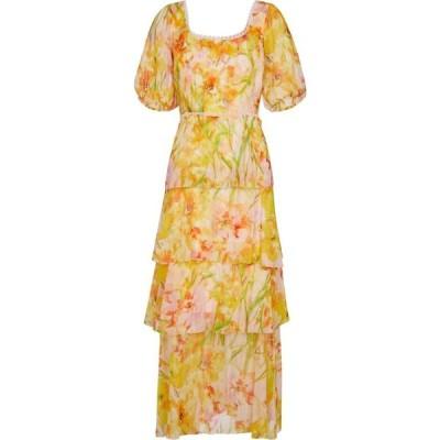 ノッテ バイ マルケッサ MARCHESA NOTTE レディース ワンピース マキシ丈 ワンピース・ドレス Floral chiffon maxi dress Daffodil